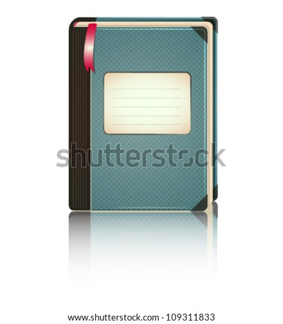 Vector interface element - dairy book icon - stock vector