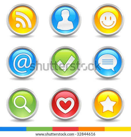 vector internet buttons for your blog - stock vector