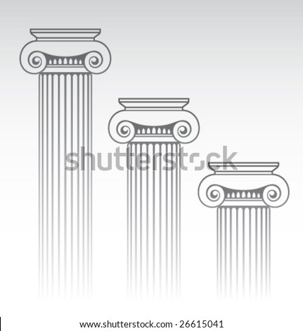 Vector Ionic column - stock vector