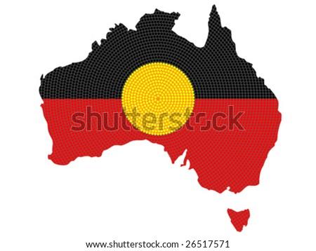 Vector isolated aboriginal style symbolic design. - stock vector