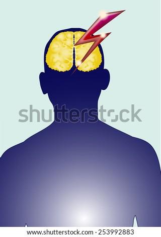 Vector isolated brain patients. - stock vector
