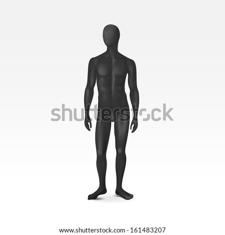Vector Isolated Male Mannequin - stock vector