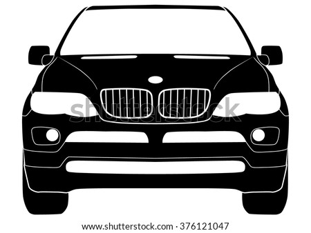 Vector isolated SUV - stock vector