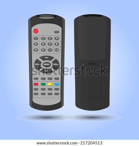 vector isolated tv-remote - stock vector