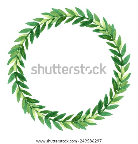 Vector isolated wreath - stock vector