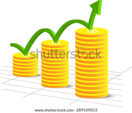 Vector it on a theme of business with cents - stock vector