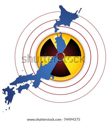 Vector - Japan Earthquake, Tsunami and Nuclear Disaster 2011 - stock vector