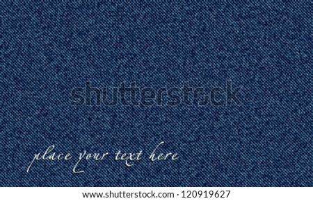Vector jeans texture business card. - stock vector