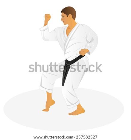 Vector Judo - stock vector