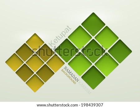 Vector ketupat element design. ramadan kareem background. Eps10 - stock vector