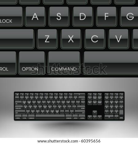 Vector 101-key Keyboard Illustration - stock vector