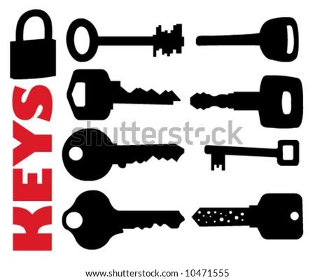 Vector Keys - stock vector