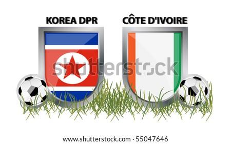 vector korea vs cote d´ivoire - stock vector