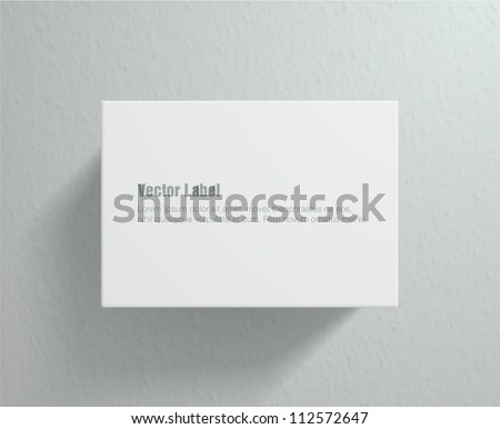 Vector label on wall. Eps10 design element - stock vector