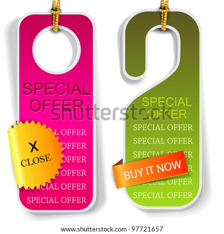 """Vector labels and bookmarks """"Special Offer"""" - stock vector"""