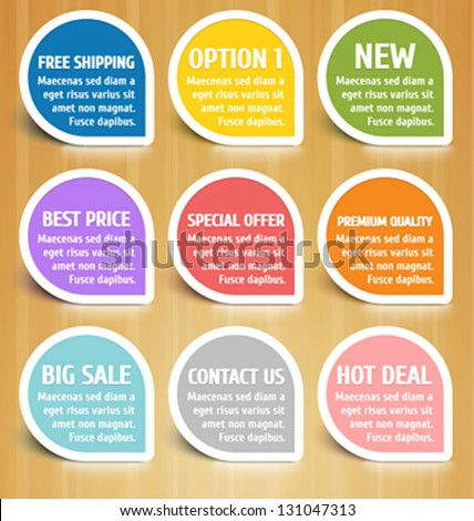 Vector Labels Design Elements Set - stock vector
