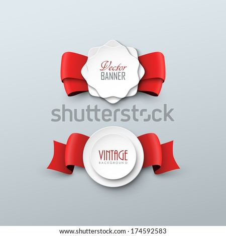 Vector labels in vintage style - stock vector
