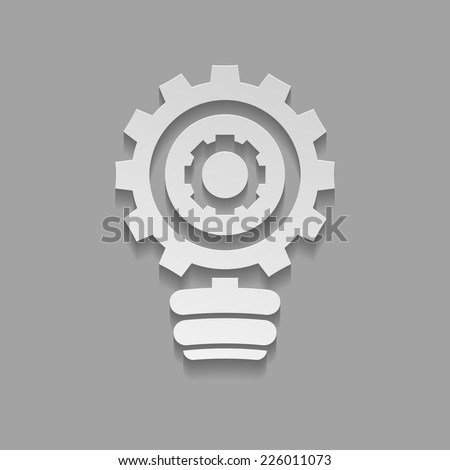 Vector lamp bulb icon - stock vector