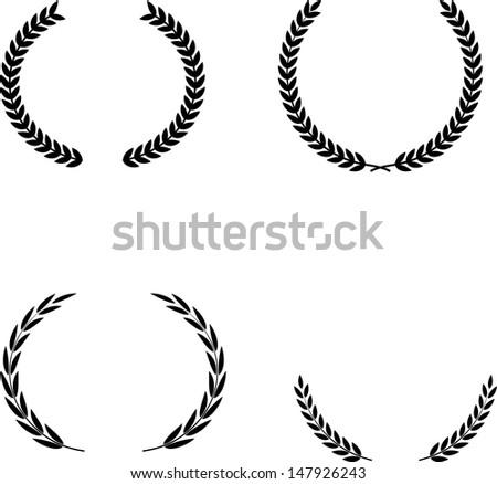 Vector Laurel Wreaths - stock vector