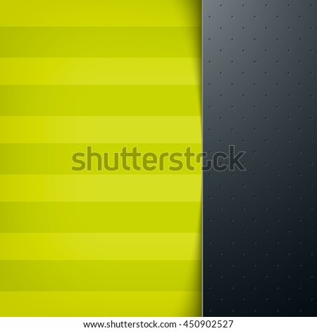Vector layered abstract background with a sidebar and realistic shadow. Subtle horizontal stripes - stock vector