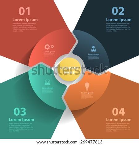 Vector layout template design, brochure, flyer, magazine cover, poster banner - stock vector