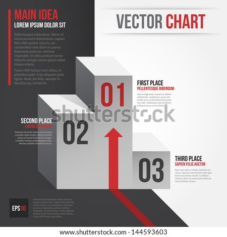 Vector layout with olympic podium. EPS10. - stock vector