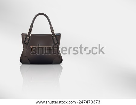Vector Leather Handbag With Copy Space, Eps 10 Vector, Gradient Mesh and Transparency Used, Raster Version Available - stock vector