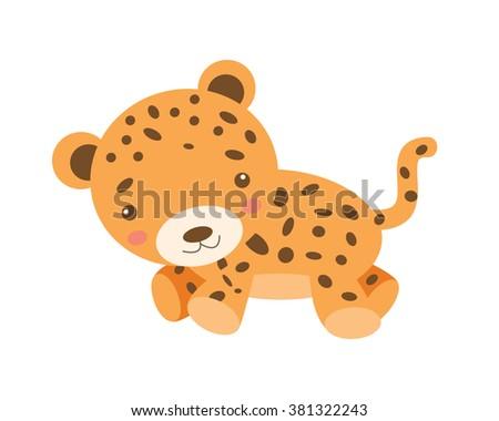 Vector Leopard Cub - stock vector