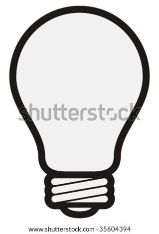 Vector light bulb. - stock vector
