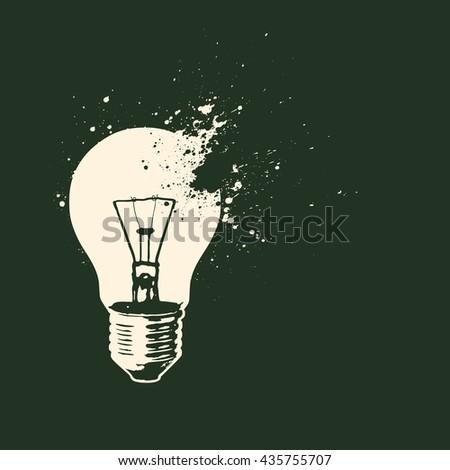 vector light bulb - stock vector