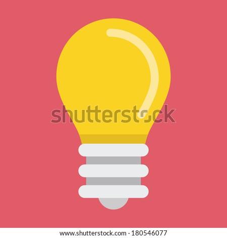 Vector Light Bulb Icon  - stock vector