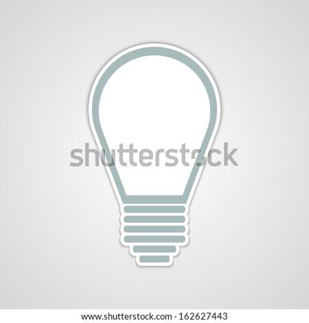 Vector light bulb sticker  - stock vector
