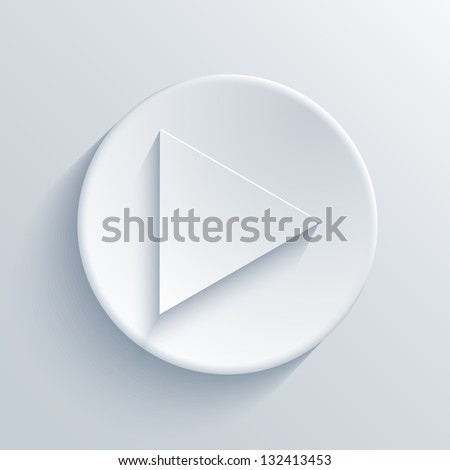 Vector light circle icon. Eps10 - stock vector