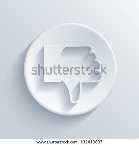 Vector light circle icon. Eps10 - stock vector