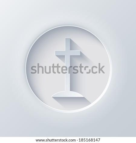 Vector light circle icon. Eps 10 illustration - stock vector