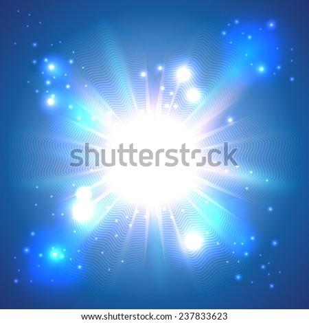 Vector light explosion - stock vector
