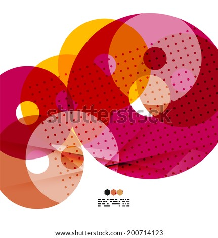 Vector light geometric compositions isolated on white background. Business brochure or presentation design - stock vector