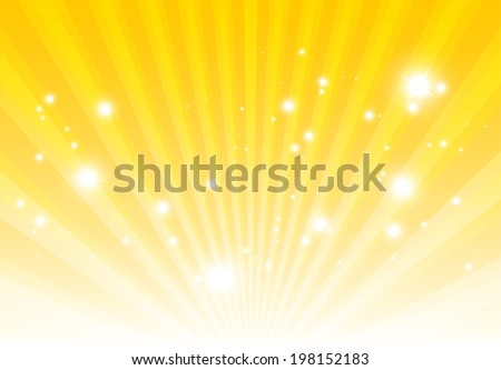Vector light rays spreading background  template  - Abstract lights and sparks background illustration - stock vector
