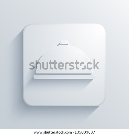 Vector light square icon. Eps10 - stock vector