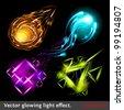 Vector light symbols - stock vector
