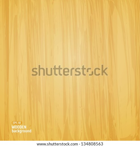 Vector light wooden background - stock vector