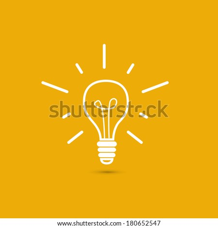 Vector lightbulb - stock vector