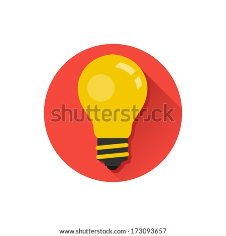 Vector Lightbulb Icon - stock vector