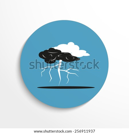 Vector lightning web flat icon. - stock vector