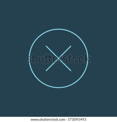 Vector Line Icon Of Close or Delete. Eps-10. - stock vector