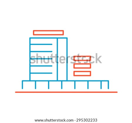 Art Building Drawings Hand Draw Line Art Design For