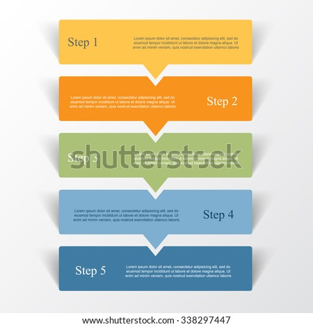 Vector lines arrows infographic. Template for diagram, graph, presentation and chart. Business concept with 5 options, parts, steps or processes. - stock vector
