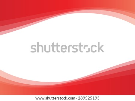 Vector lines drawing red wave background - stock vector