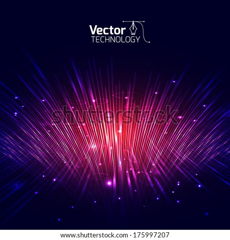 Vector lines equalizer 3D - stock vector