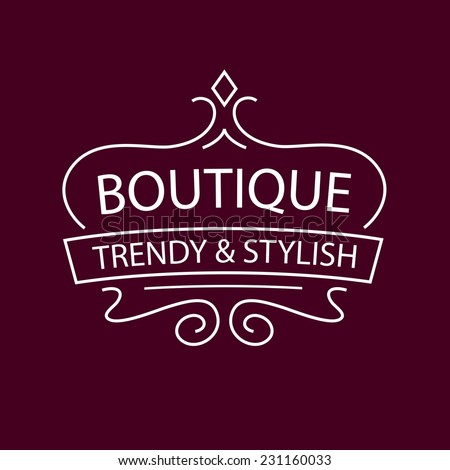 Vector logo Clothing, accessories and shoes. Trendy and stylish. Vintage. The premium segment. - stock vector